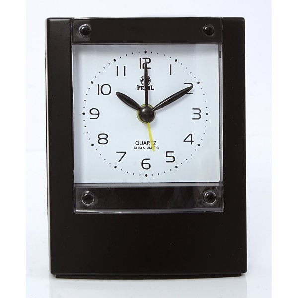 Pearl Travelling Black Alarm Clock B-1
