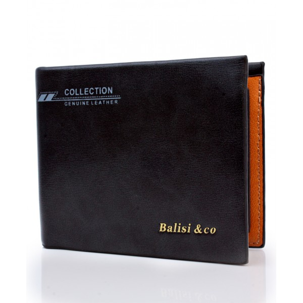 Balisi And Co Black Plain Wallet BL-49