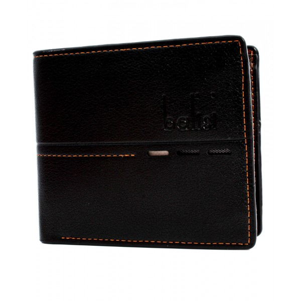 Balisi And Co Black Stitched Design Wallet BL-177