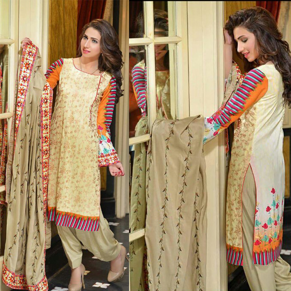 Reeva Linen Embroidered Unstitched Suit 1B