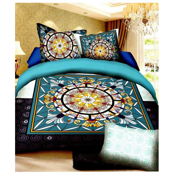 Prizma Multicolored Unique Design Satin Bedsheet P-1010