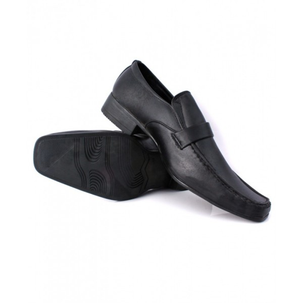 Black Plain Stitched Design Formal Shoes CB-2050