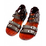 Brown Stylish High Ankle Double Strap Casual Sandal RF-1018