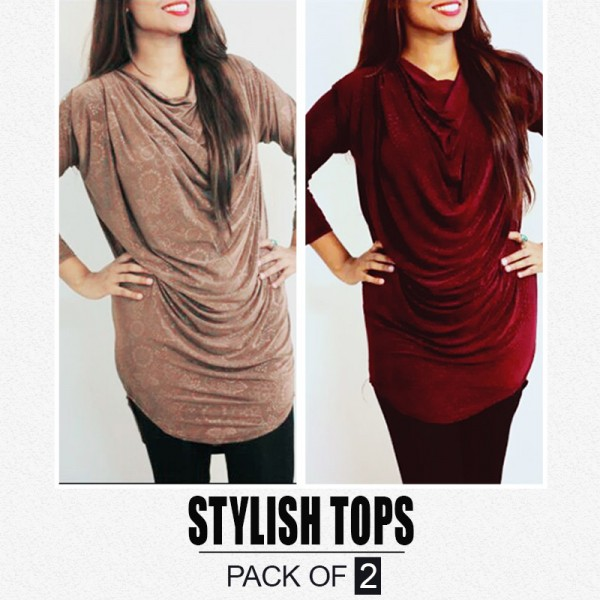 Pack Of 2 Stylish Tops ST-709