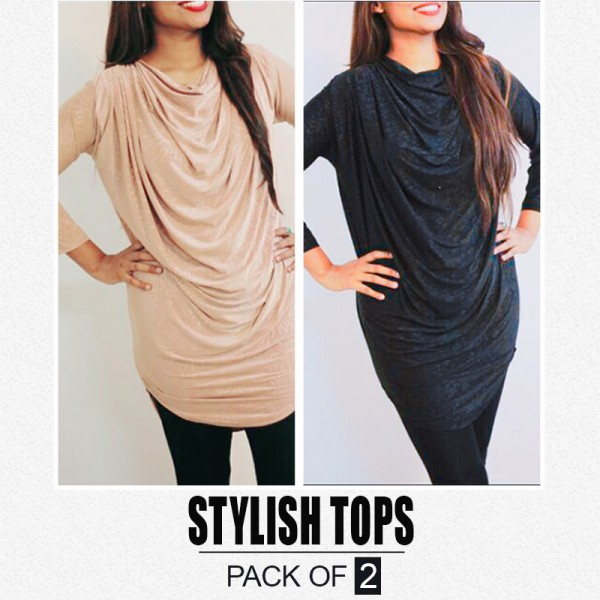 Pack Of 2 Stylish Tops ST-710
