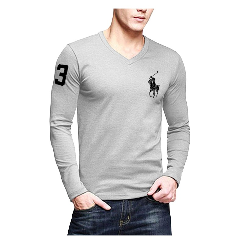 pack of 4 polo v neck full sleeves t shirts. Black Bedroom Furniture Sets. Home Design Ideas