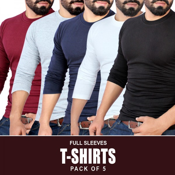 Pack Of 5 Long Sleeves T-Shirts MH-8335