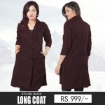 Stylish Black Winter Long Coat