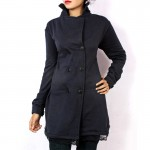Stylish Navy Blue Winter Coat For Women