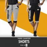 Pack of 2 CA Three Quarter Shorts