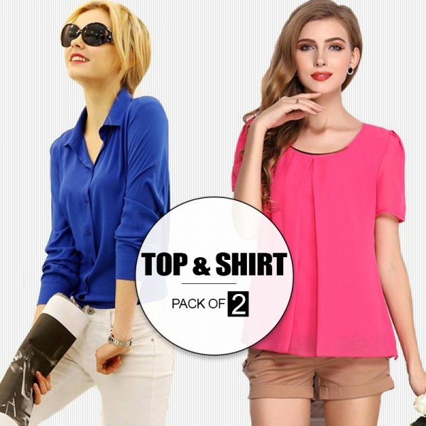 Pack Of 2 Top and Shirt