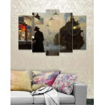 Wall Canvas Frames Digitally Printed 5 Pieces FR-1212