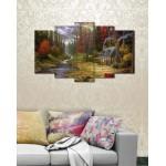 Set of 5 Printed Canvas Frames FR-1292