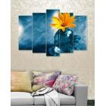 Wall Canvas Frames Digitally Printed 5 Pieces FR-1169