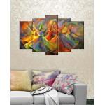 5 Pieces Wall Canvas Frames Digitally Printed FR-1242