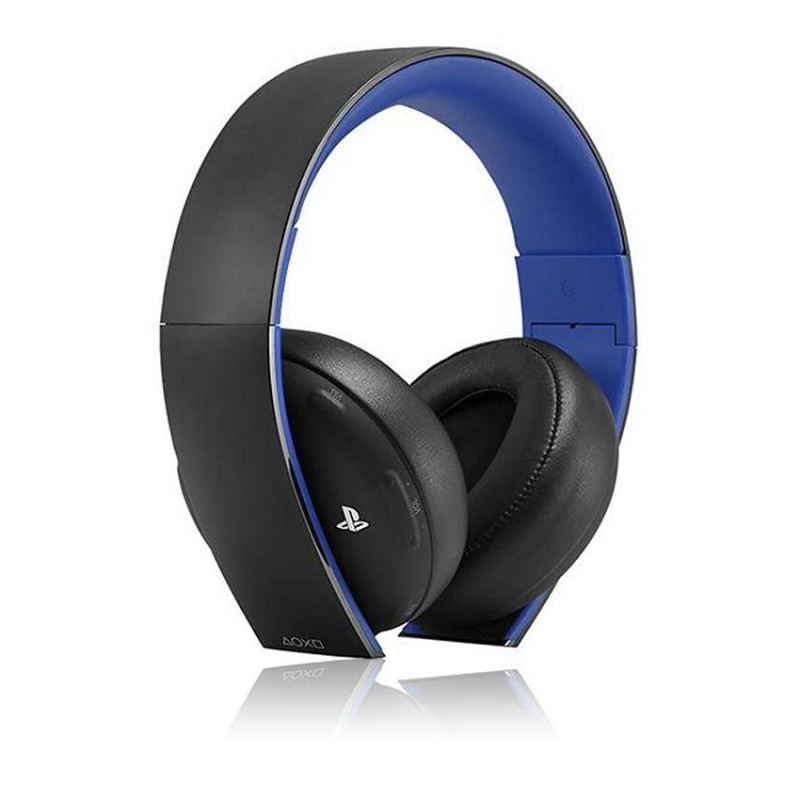 sony wireless headset for ps4 ps3 ps vita blue and black. Black Bedroom Furniture Sets. Home Design Ideas
