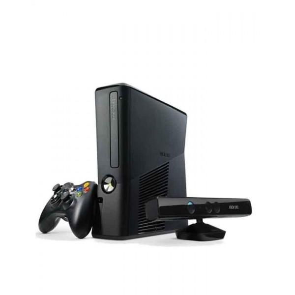 Microsoft Xbox 360 - Ultra Slim (Software Modded) with Kinect - 250 GB - Black