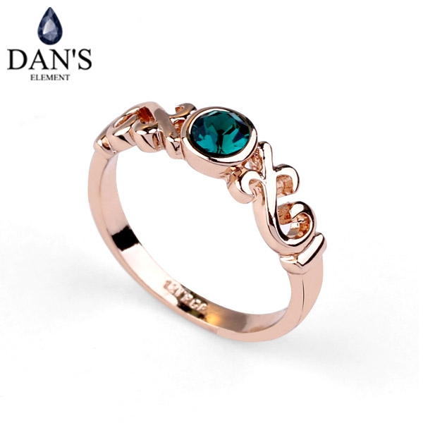 Rose Gold Color Genuine Austrian Crystal Ring