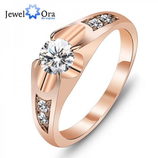Rose Gold Color Polish Antique Ring