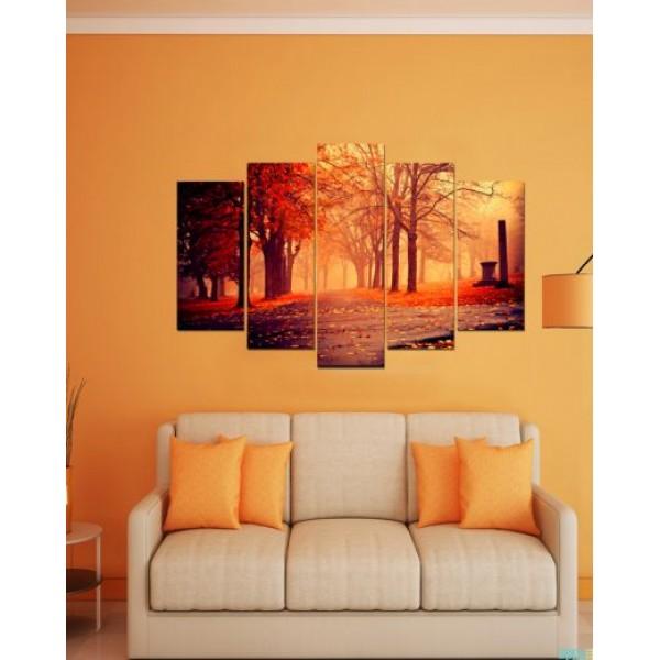 Wall Canvas Frames Digitally Printed Trees View FR-1110