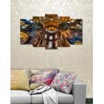 Wall Canvas Frames Digitally Printed 5 Pieces FR-1226