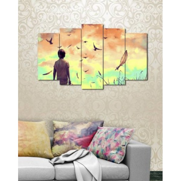Set of 5 Printed Canvas Frames FR-1401