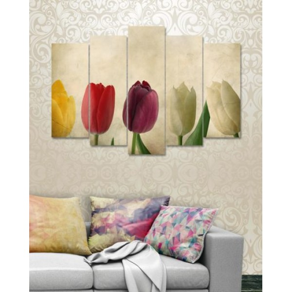 Wall Canvas Frames Digitally Printed 5 Pieces FR-1171