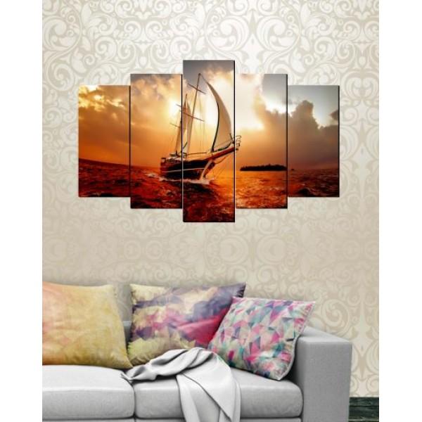 Set of 5 Printed Canvas Frames FR-1248