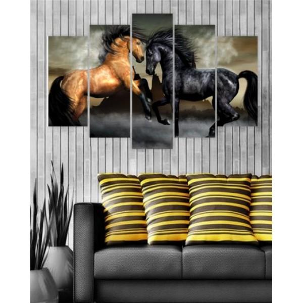 Wall Canvas Frames Digitally Printed Horses FR-1006