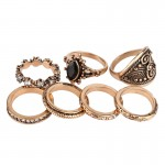 7pcs Set Bohemian Vintage Punk Antique Rings