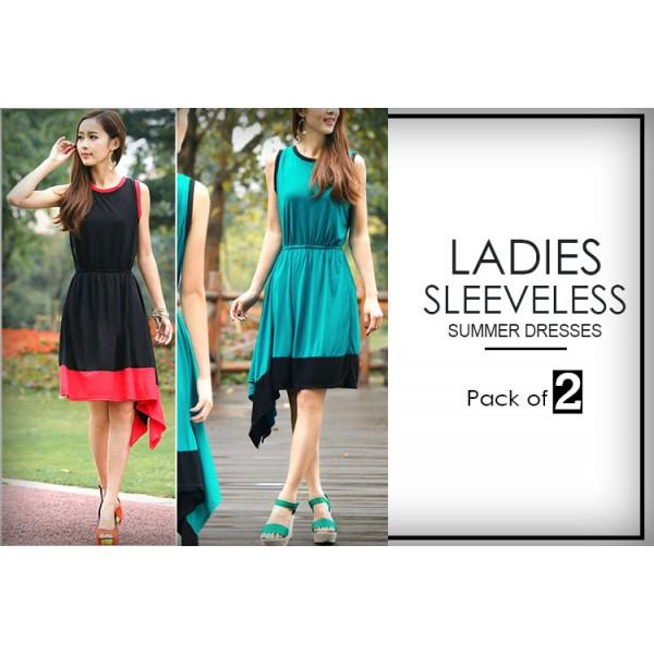 Pack Of 2 Sleeveless Summer Dresses 02