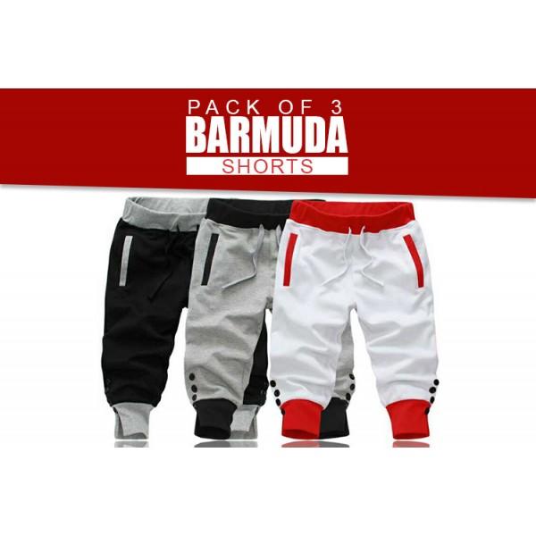 Pack Of 3 Bermuda Shorts