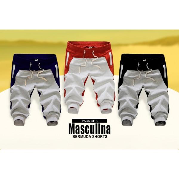 Pack Of 3 Masculiana Bermuda Shorts