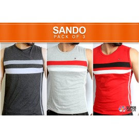 Pack Of 3 Multi Color Sleeveless T-Shirts