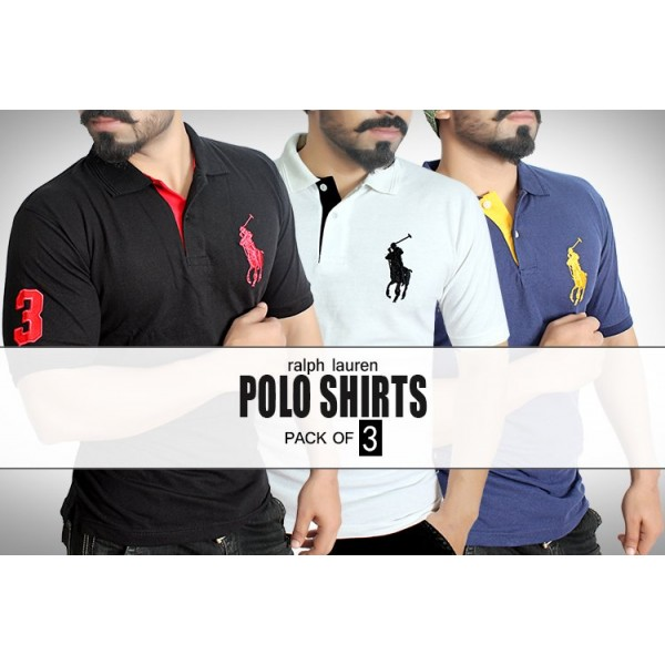 Pack of 3 Ralph Lauren Polo Shirts MT-7029