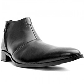 Black Plain Side Zipper Formal Shoes CR-5236