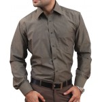 Dim Grey Men Formal Shirt