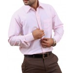 Light Pink Men Formal Shirt