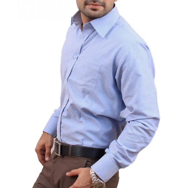 Light Blue Plain Formal Shirt