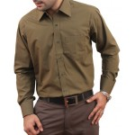 Olive Men Formal Shirt