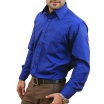 Royal Blue Men Formal Shirt
