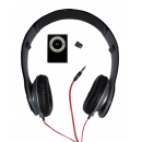 MP3 Player 4GB Memory Card & Black Copper Solo HD Headphone