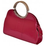 Babier Shocking Pink Handbag With Stylish Metal Handles