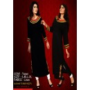 Black Fancy Linen Kurta with Embroidery