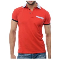 Red And Grey Polo Shirt