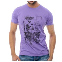 Purple Screen Print T-Shirt