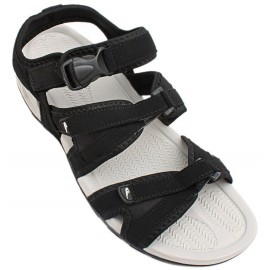 Black Tri Strap Smart Casual Sandal