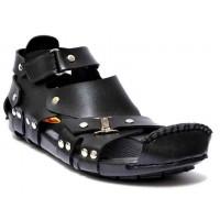 Black High Ankle Straps Sandal