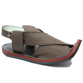 Coffe Brown Peshawari Matte Polish Sandals