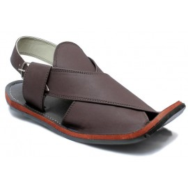Maroon Brown Peshawari Matte Polish Sandals